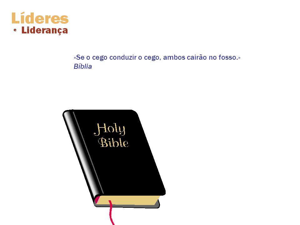 «Se o cego conduzir o cego, ambos cairão no fosso.» Bíblia
