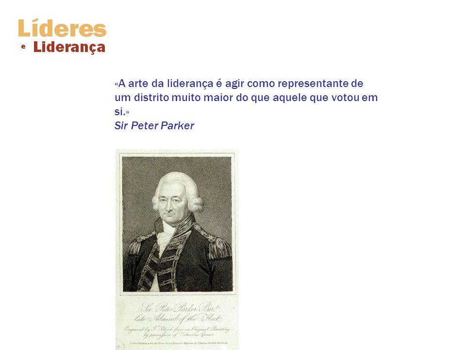 «A arte da liderança é agir como representante de um distrito muito maior do que aquele que votou em si.» Sir Peter Parker