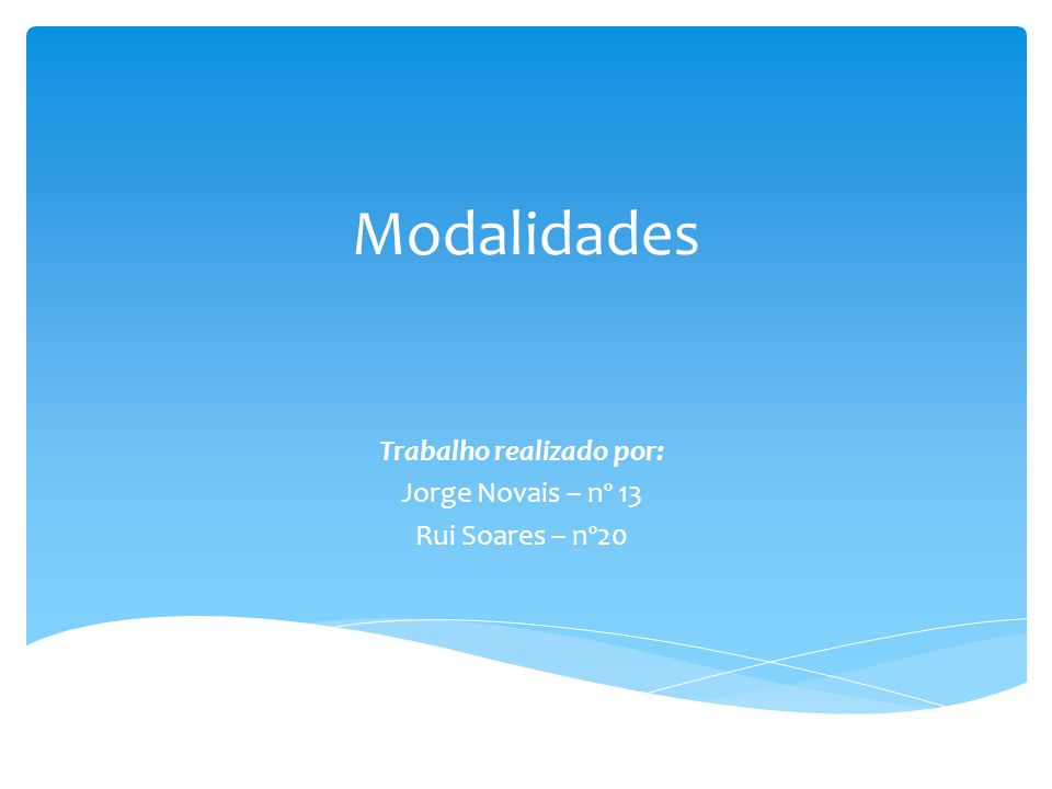 Trabalho realizado por: Jorge Novais – nº 13 Rui Soares – nº20