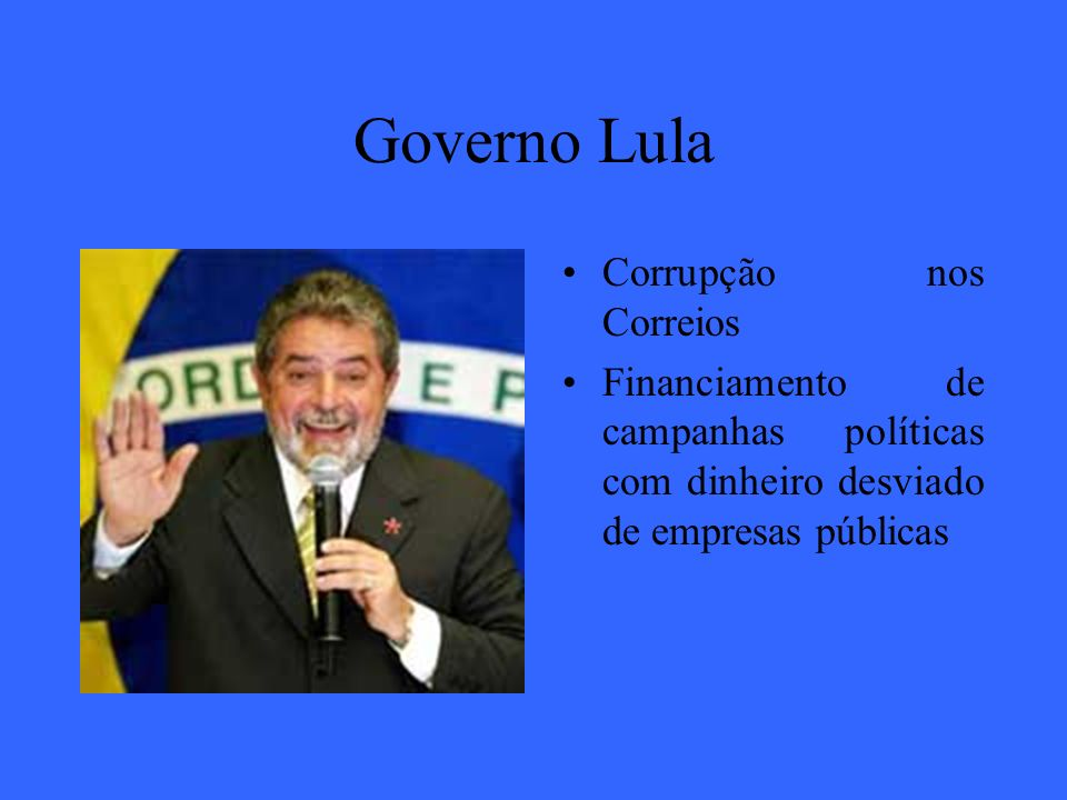 Governo Lula Corrupção nos Correios