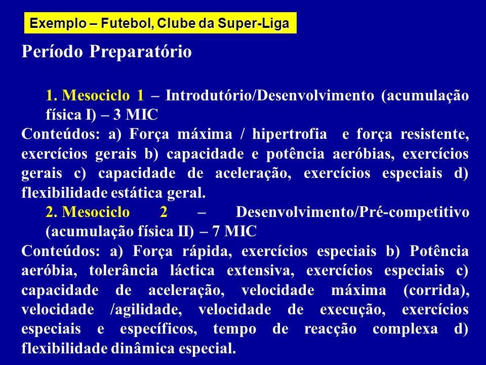 Exemplo – Futebol, Clube da Super-Liga