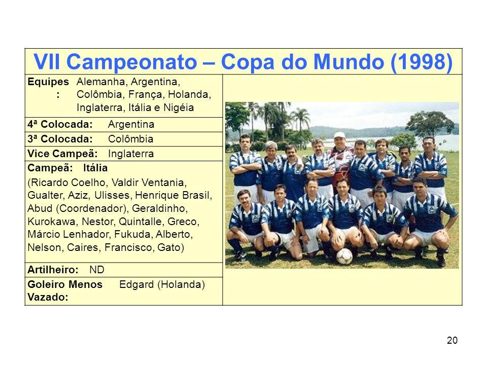 VII Campeonato – Copa do Mundo (1998)