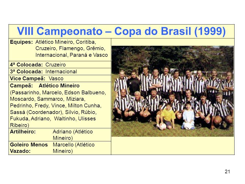 VIII Campeonato – Copa do Brasil (1999)
