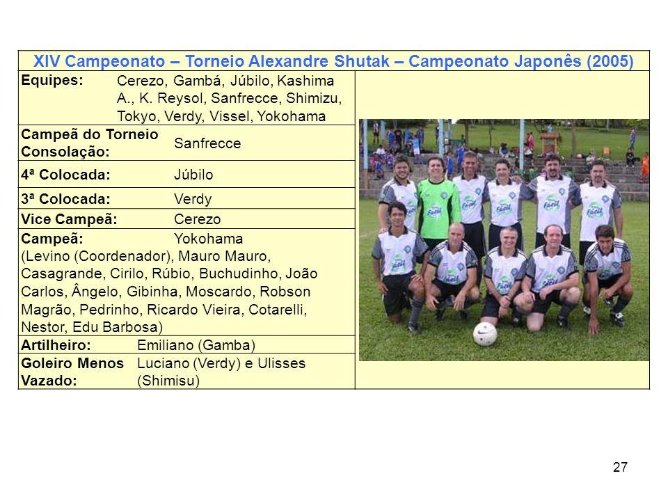 XIV Campeonato – Torneio Alexandre Shutak – Campeonato Japonês (2005)