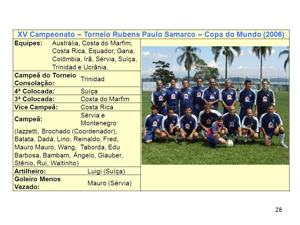 XV Campeonato – Torneio Rubens Paulo Samarco – Copa do Mundo (2006)