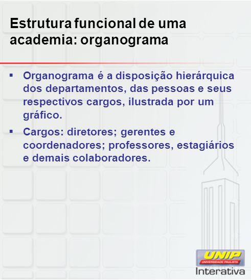 Estrutura funcional de uma academia: organograma