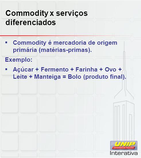 Commodity x serviços diferenciados