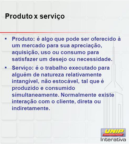 Produto x serviço