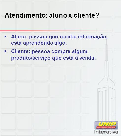 Atendimento: aluno x cliente