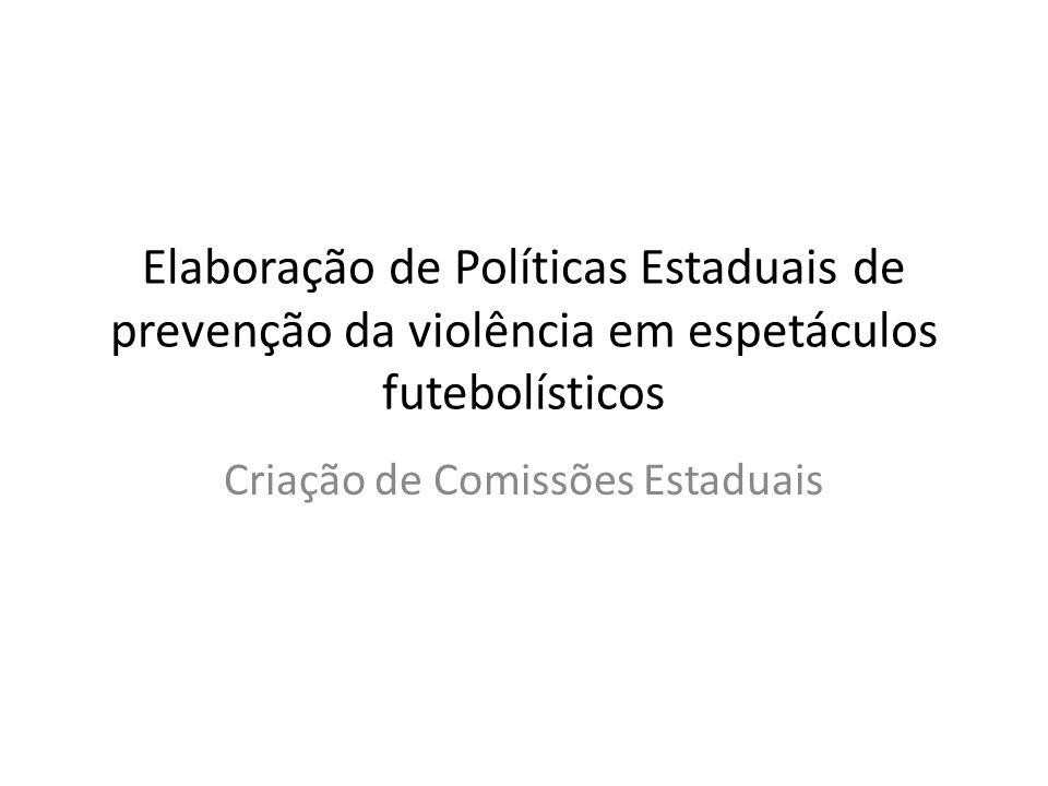 Criação de Comissões Estaduais