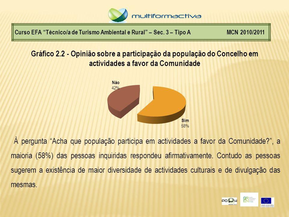 Curso EFA Técnico/a de Turismo Ambiental e Rural – Sec