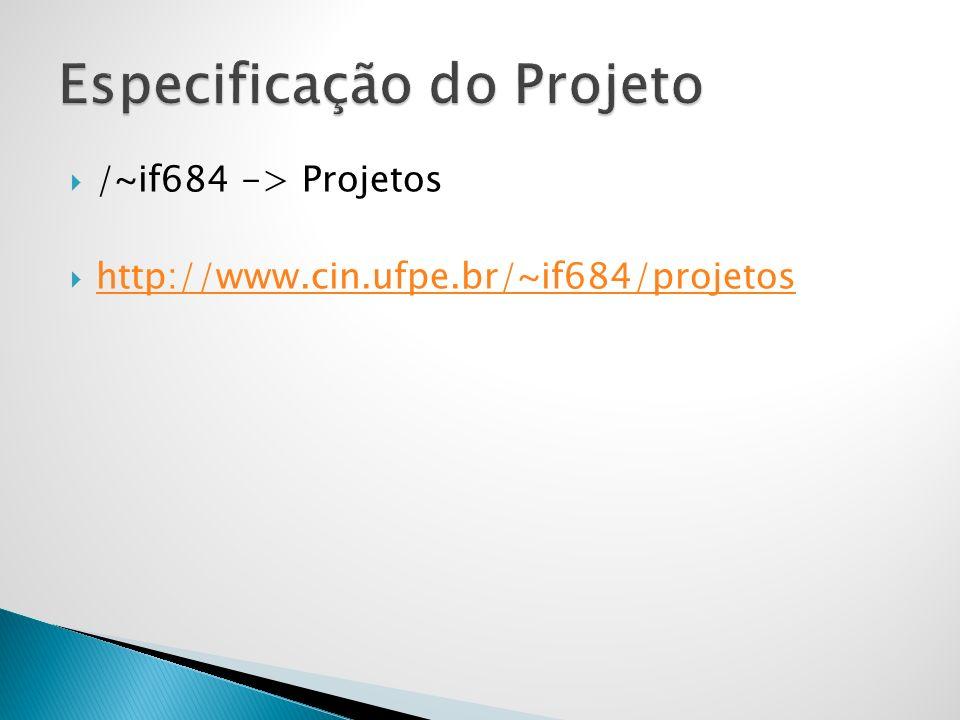 Especificação do Projeto