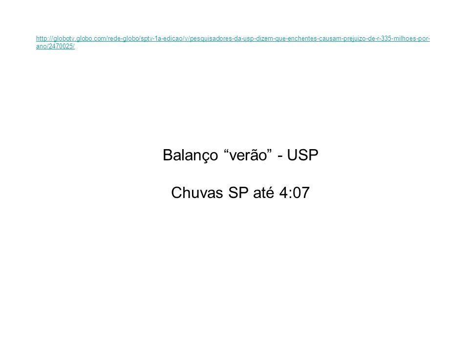 Balanço verão - USP Chuvas SP até 4:07