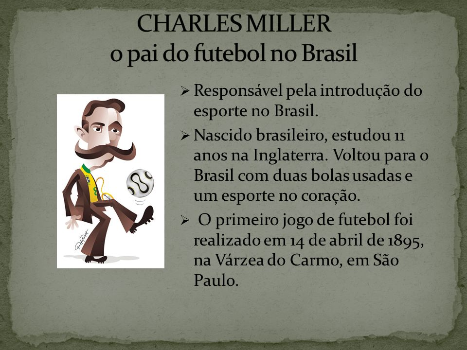 CHARLES MILLER o pai do futebol no Brasil