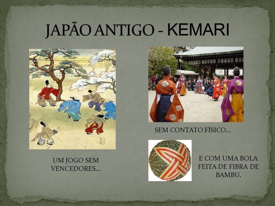 E COM UMA BOLA FEITA DE FIBRA DE BAMBU.