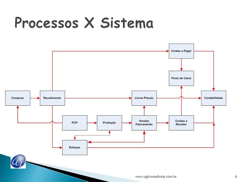 Processos X Sistema www.ogtconsultoria.com.br