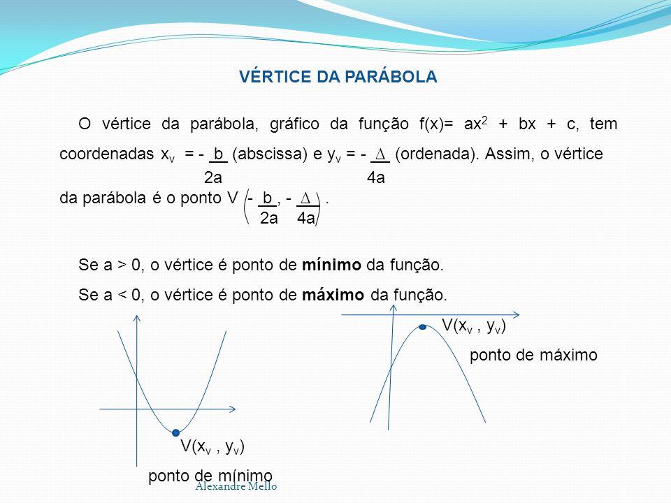 da parábola é o ponto V - b , - ∆ . 2a 4a