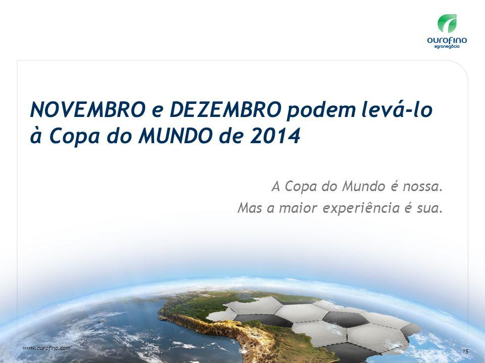 NOVEMBRO e DEZEMBRO podem levá-lo à Copa do MUNDO de 2014