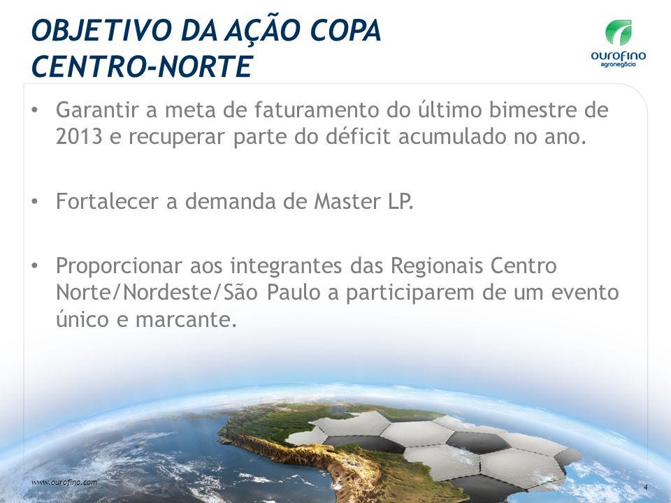 OBJETIVO DA AÇÃO COPA CENTRO-NORTE