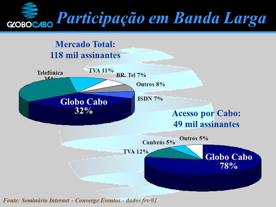 Fonte: Seminário Internet - Converge Eventos - dados fev/01
