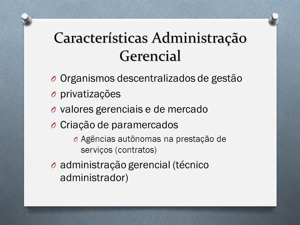 Características Administração Gerencial