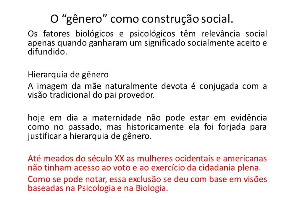 O gênero como construção social.