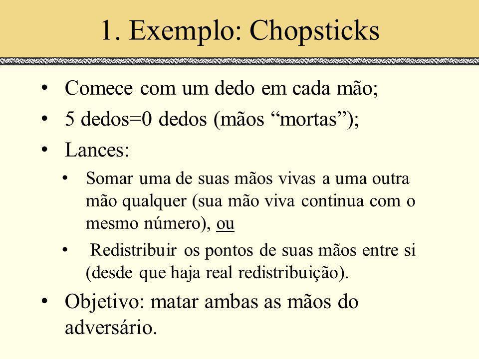 1. Exemplo: Chopsticks Comece com um dedo em cada mão;