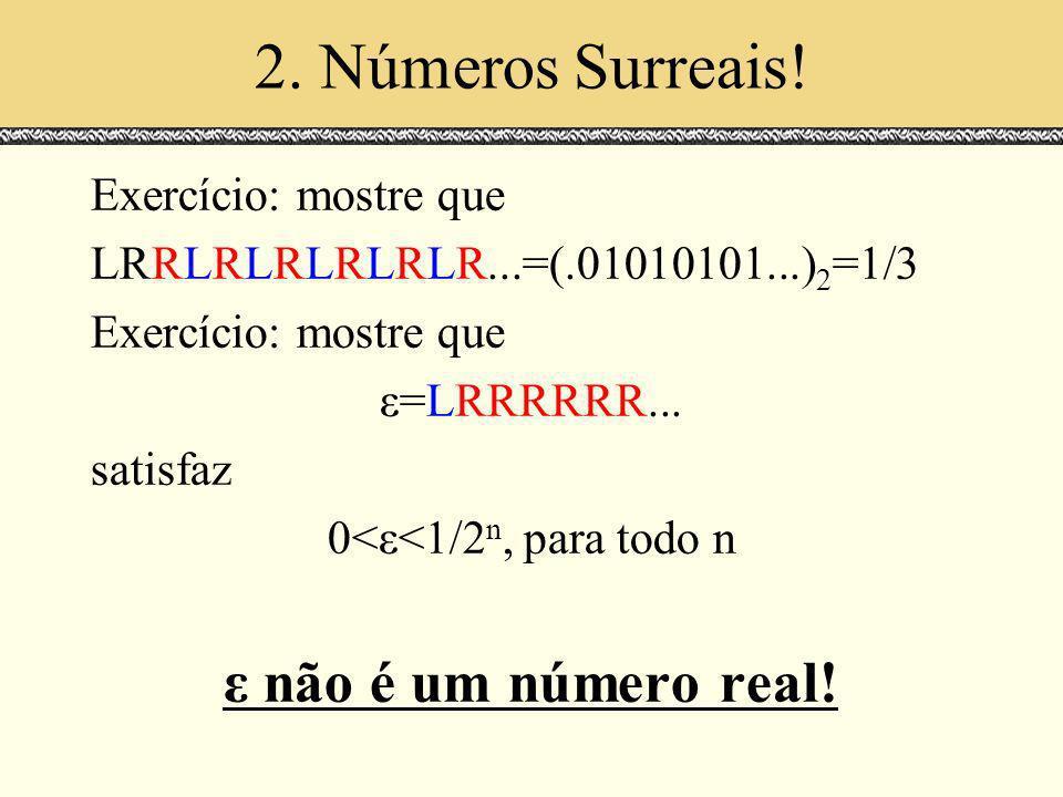 0<ε<1/2n, para todo n