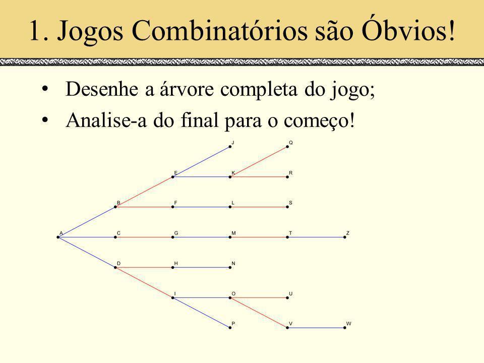 1. Jogos Combinatórios são Óbvios!