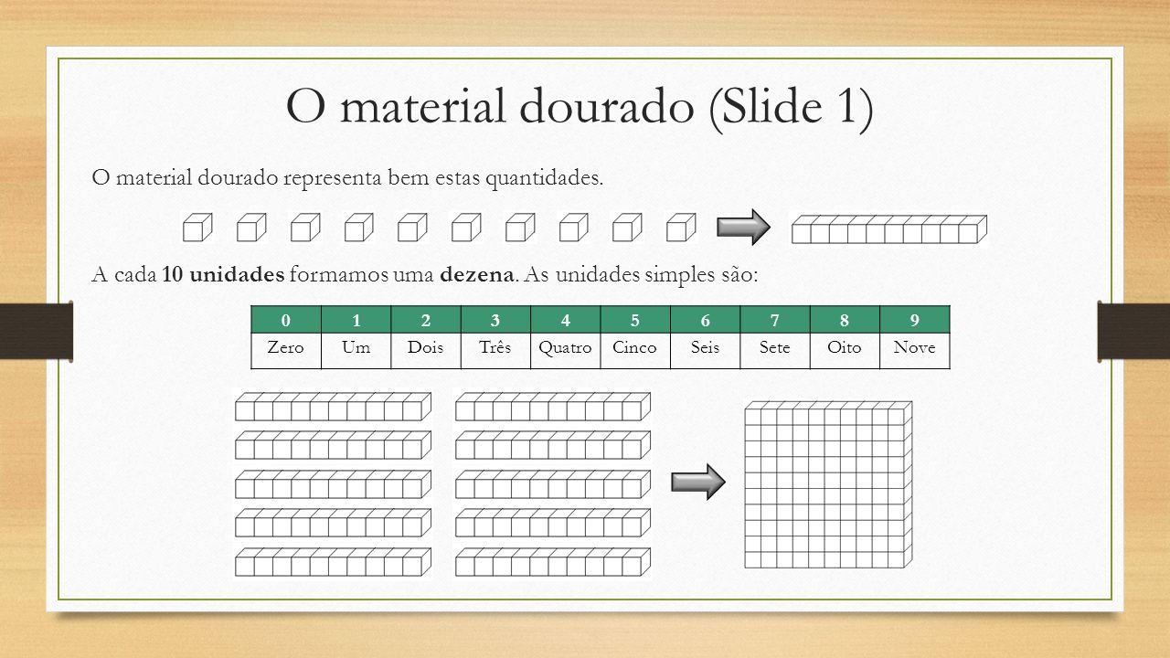 O material dourado (Slide 1)