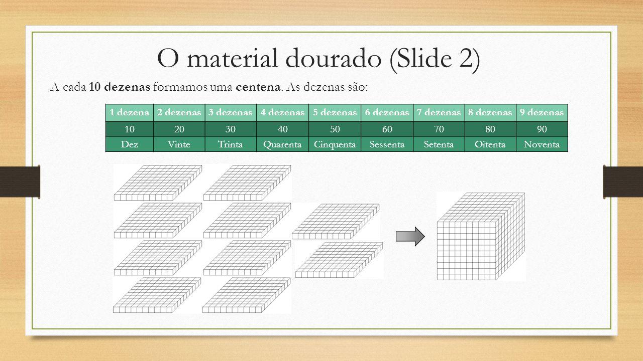 O material dourado (Slide 2)