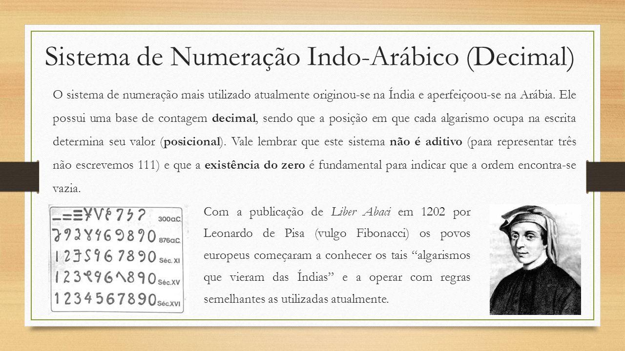 Sistema de Numeração Indo-Arábico (Decimal)