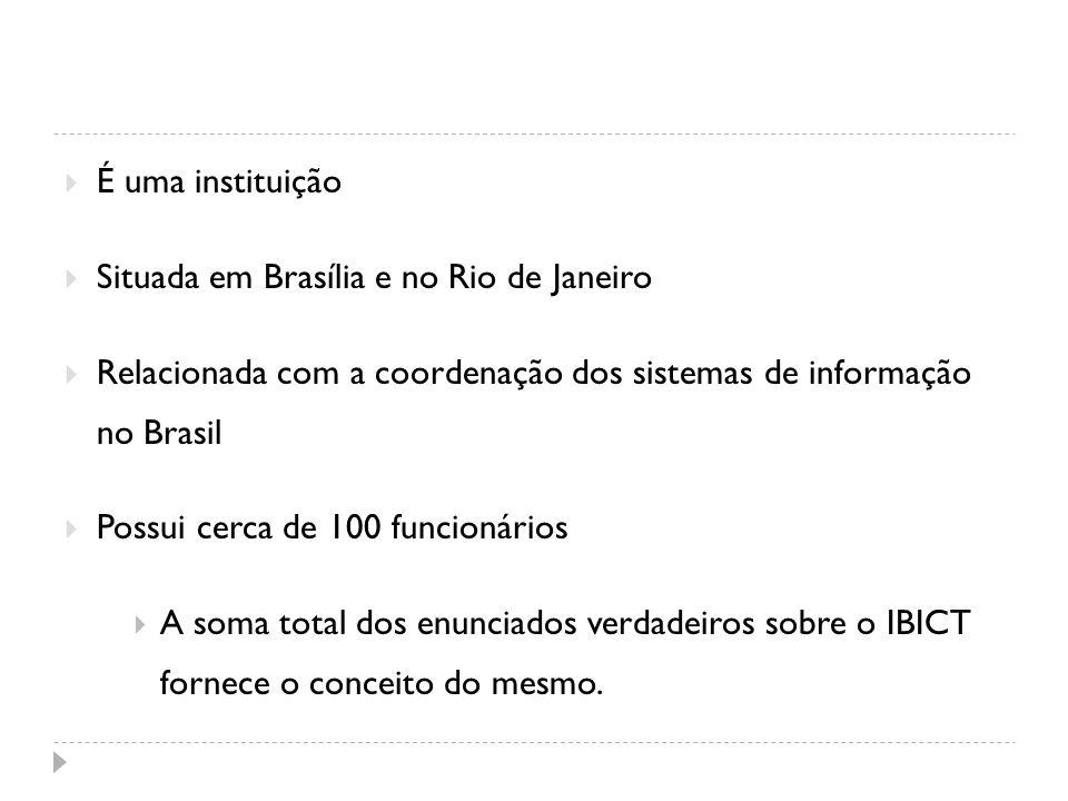 É uma instituição Situada em Brasília e no Rio de Janeiro. Relacionada com a coordenação dos sistemas de informação no Brasil.