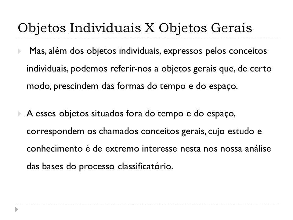 Objetos Individuais X Objetos Gerais