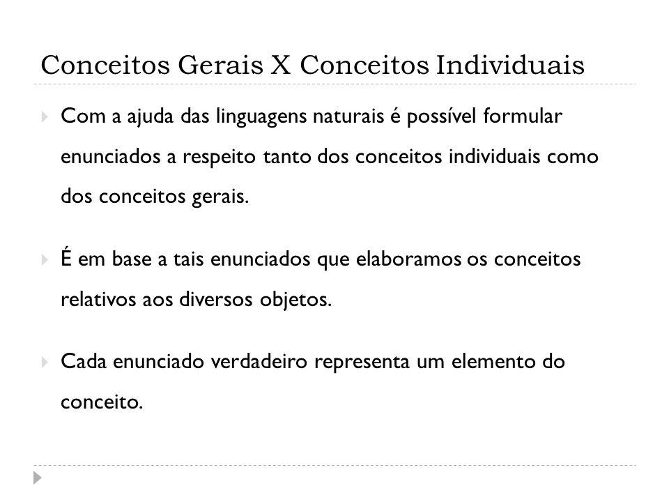 Conceitos Gerais X Conceitos Individuais
