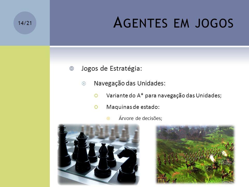 Agentes em jogos Jogos de Estratégia: Navegação das Unidades: