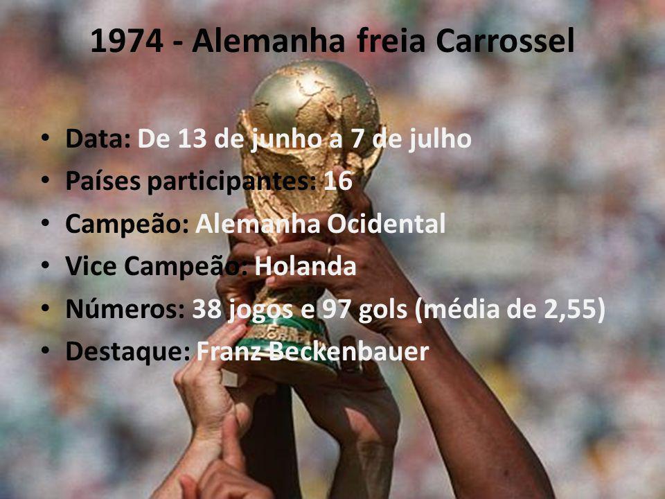 1974 - Alemanha freia Carrossel