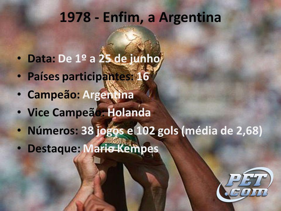 1978 - Enfim, a Argentina Data: De 1º a 25 de junho