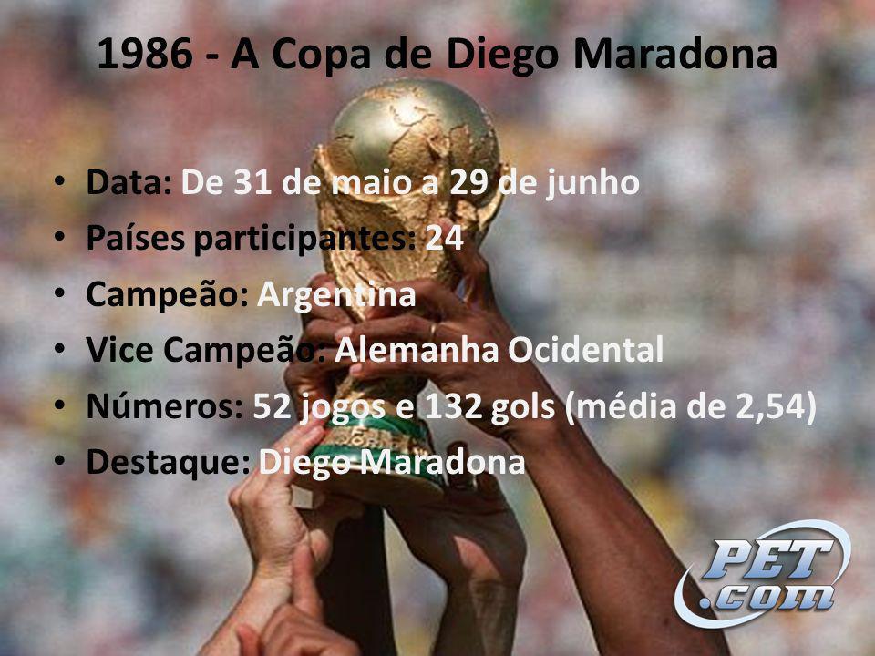 1986 - A Copa de Diego Maradona