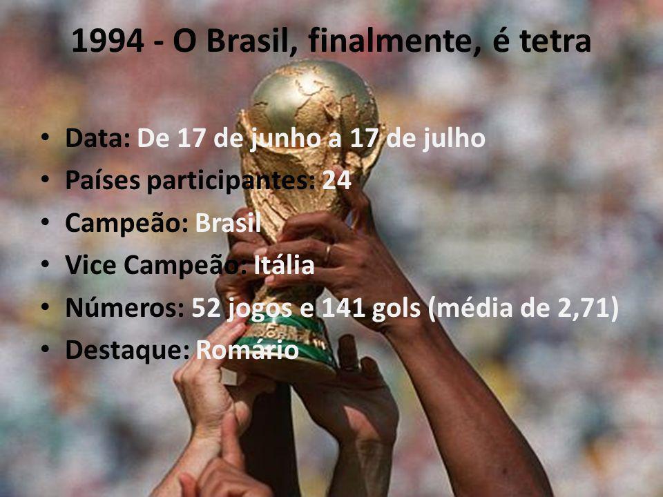 1994 - O Brasil, finalmente, é tetra