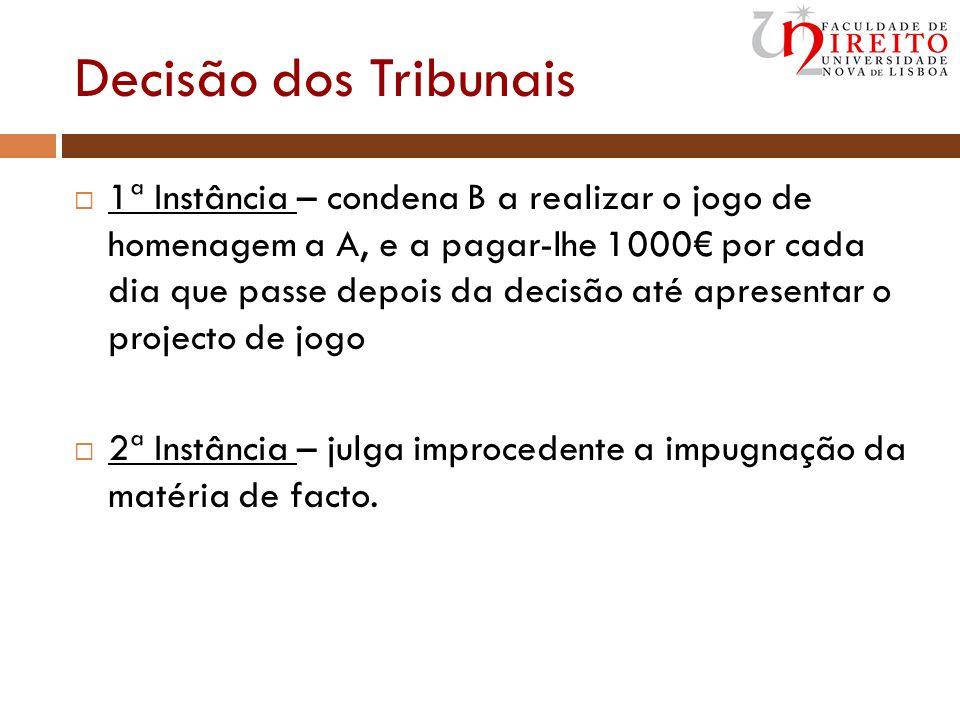 Decisão dos Tribunais