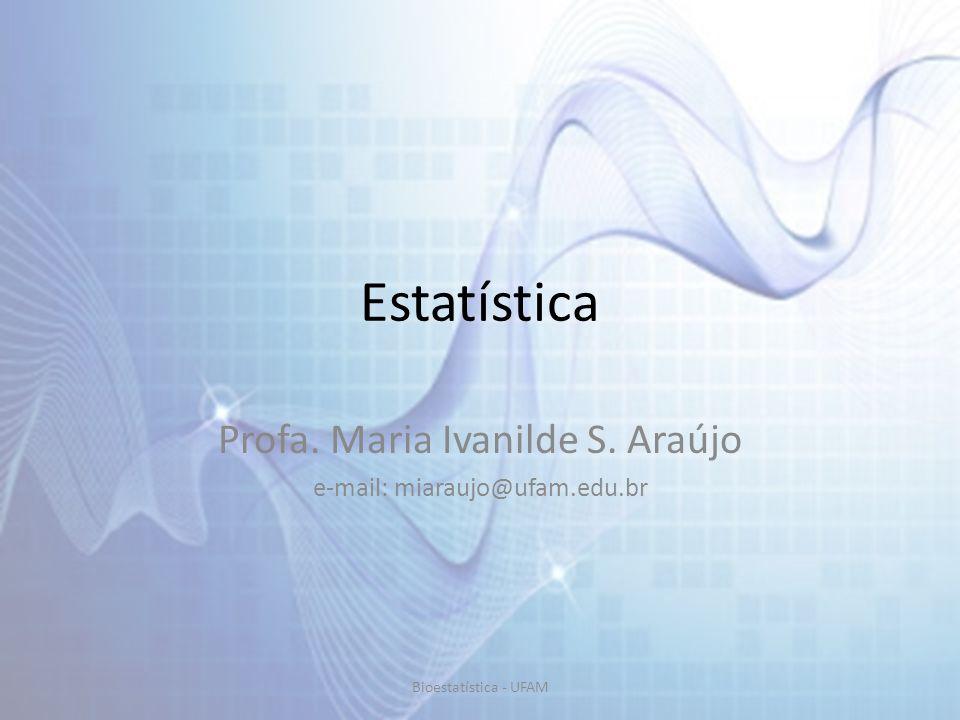Profa. Maria Ivanilde S. Araújo e-mail: miaraujo@ufam.edu.br