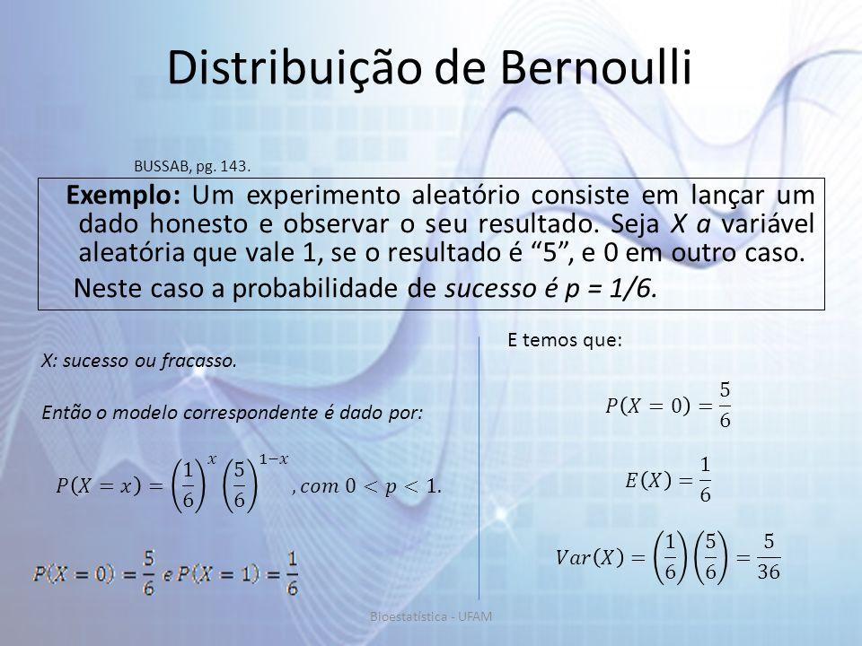 Distribuição de Bernoulli