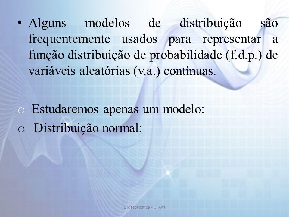 Estudaremos apenas um modelo: Distribuição normal;