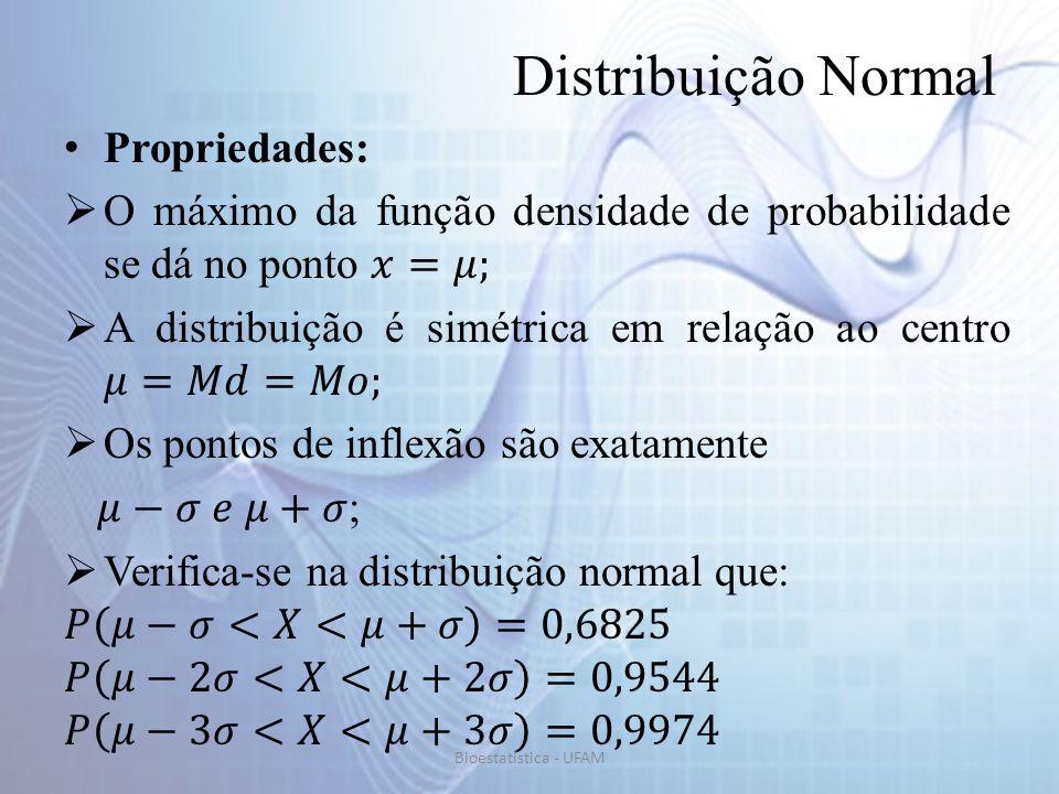 Distribuição Normal Propriedades: