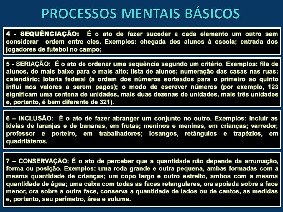PROCESSOS MENTAIS BÁSICOS