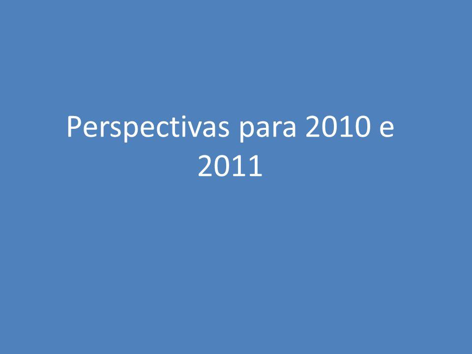 Perspectivas para 2010 e 2011