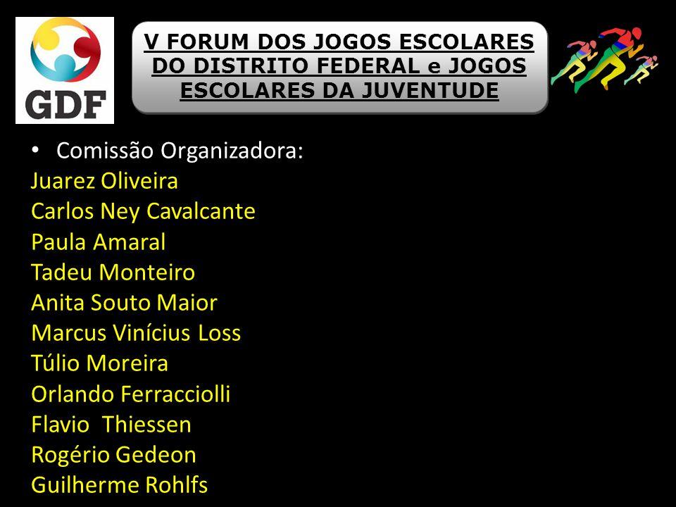 Comissão Organizadora: Juarez Oliveira Carlos Ney Cavalcante