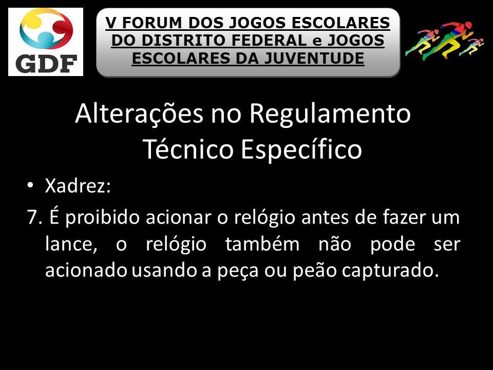 Alterações no Regulamento Técnico Específico