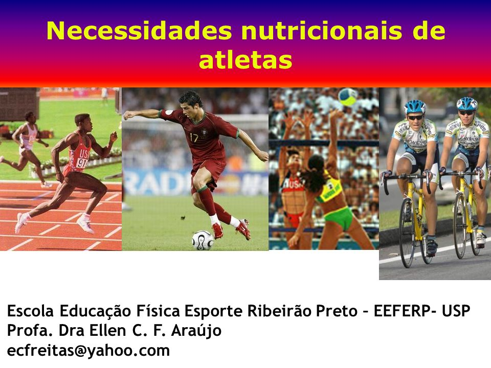 Necessidades nutricionais de atletas